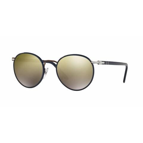 Persol Men's PO2422SJ 1062O3 49 Round Metal Plastic Blue Brown Sunglasses