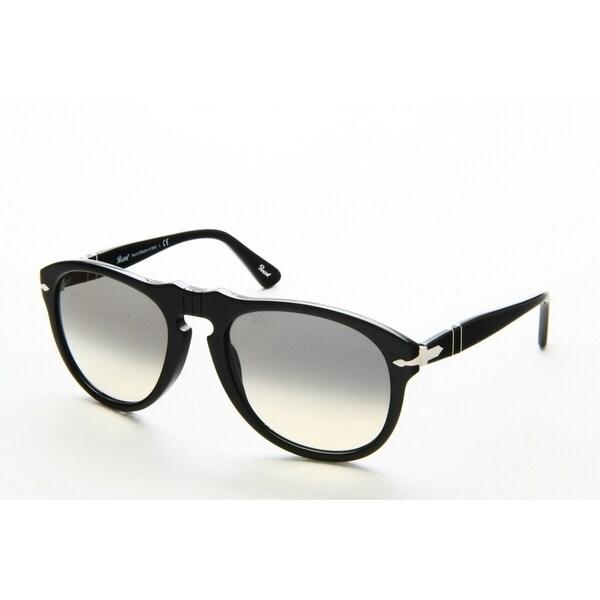 407c876676bd Persol Men's PO0649 95/32 54 Aviator Plastic Black Grey Sunglasses