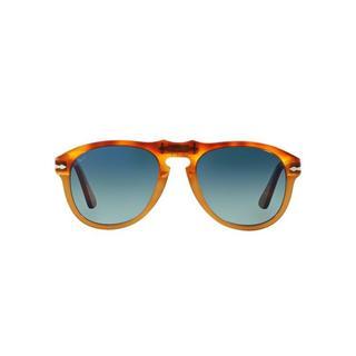 Persol Men's PO0649 10524E 54 Aviator Plastic Havana Green Sunglasses