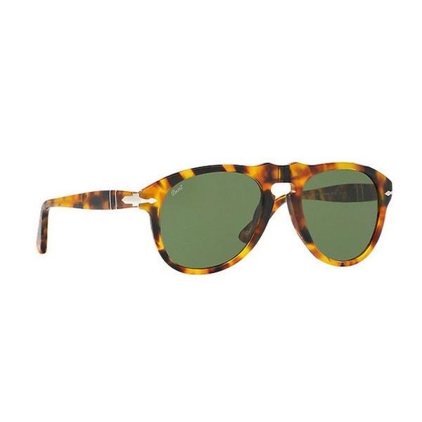 d8a7a1ef7c2e Persol Men's PO0649 10524E 54 Aviator Plastic Havana Green Sunglasses