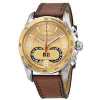 Swiss Army Men's A549957 Victorinox Leather Chronograph Watch