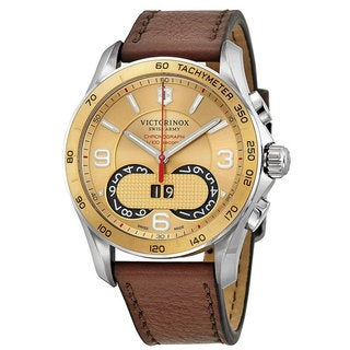 Link to Swiss Army Men's A549957 Victorinox Leather Chronograph Watch Similar Items in Men's Watches