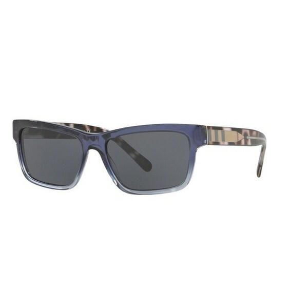 a127cf81e2c7 Burberry Men  x27 s BE4225F 359987 57 Square Plastic Blue Grey Sunglasses