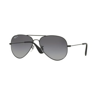 Ray-Ban Unisex RB3558 002/T3 58 Aviator Metal Plastic Black Grey Sunglasses