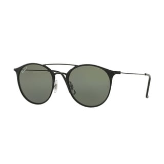 Ray-Ban Unisex RB3546 186/9A 52 Round Metal Plastic Green Sunglasses