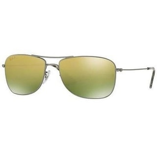 Ray-Ban Unisex RB3543 029/6O 59 Aviator Metal Plastic Gunmetal Green Sunglasses