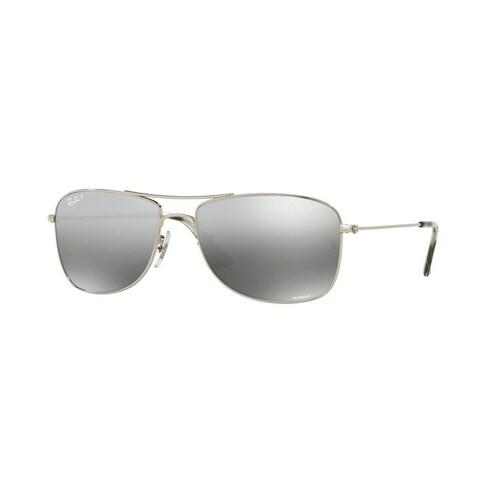 Ray-Ban Unisex RB3543 003/5J 59 Aviator Metal Plastic Silver Grey Sunglasses