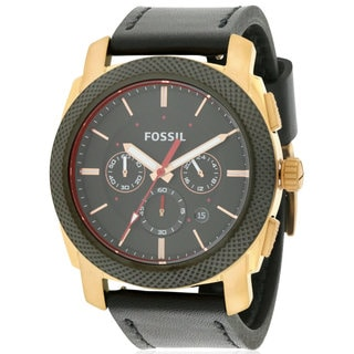 Fossil Men's FS5120 Machine Leather Chronograph Watch