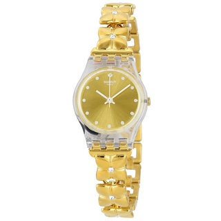 Swatch Ladies' LK358G Golden Keeper Watch