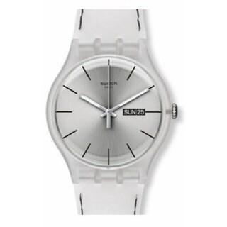 Swatch Resolution Women's Silver Silicone Watch