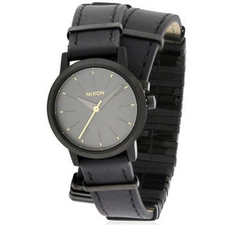 Nixon Kenzi Women's Black Leather Stainless Steel Watch