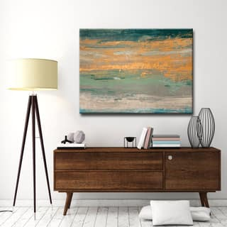 Sparkling Seas II' by Norman Wyatt, Jr. Abstract Wrapped Canvas Wall Art