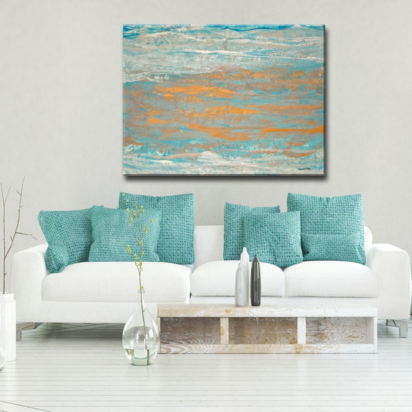 Ready2HangArt Oversized Canvas 'Sparkling Seas I' by Norman Wyatt, Jr.