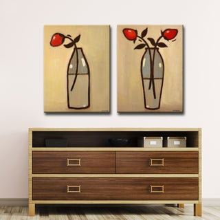 Ready2HangArt 2 Piece Canvas Art Set 'Minimalist Rose I/II' by Norman Wyatt, Jr.