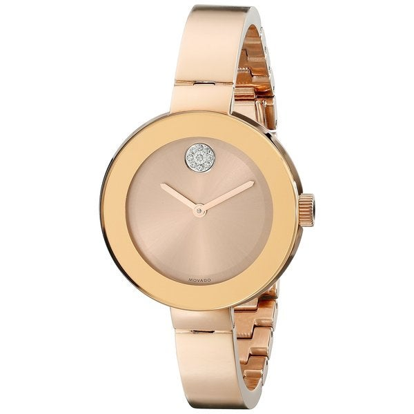 Men's  'Bold' Crystal Rose-Tone Stainless Steel Watch - Movado 3600202