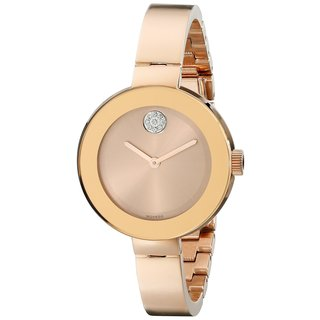 Movado Women's Stainless Steel Bold Rose Gold-Tone 3600202 Watch