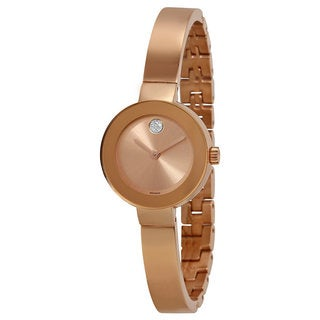 Movado 3600286 Bold Rose Goldtone Stainless Steel Ladies' Watch