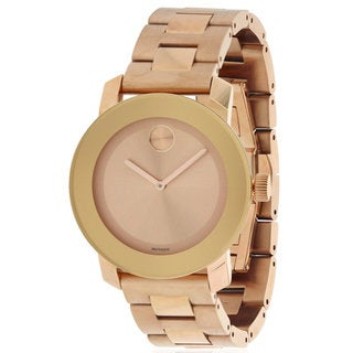 Movado Women's Stainless Steel Rose Goldtone 3600342 Bold Watch