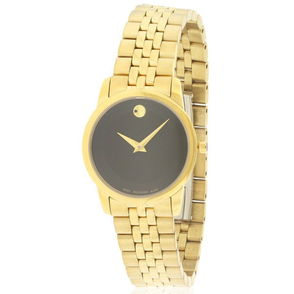 8781d042f Shop Movado Women's 0607005 Museum Gold-Tone Stainless Steel Watch - Free  Shipping Today - Overstock - 14602404