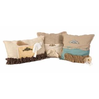Teft Burlap Pillow - Set of 3