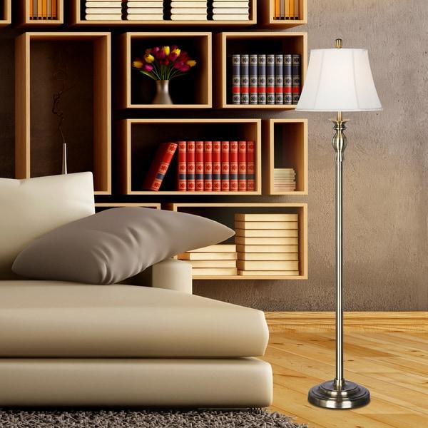 Fangio Lighting's #1257 58.5 inch Antique Brass Metal Floor Lamp