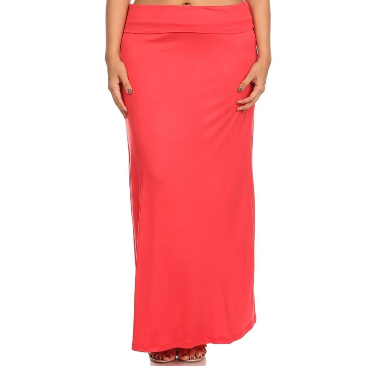 Women's Plus-size Solid Maxi Skirt (Heathergrey-2XLARGE),...