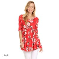 Women's Floral Rose Pattern Tunic