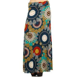 Women's Mandala Maxi Skirt