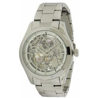 Kenneth Cole New York Silvertone Stainless Steel Automatic Men's Watch