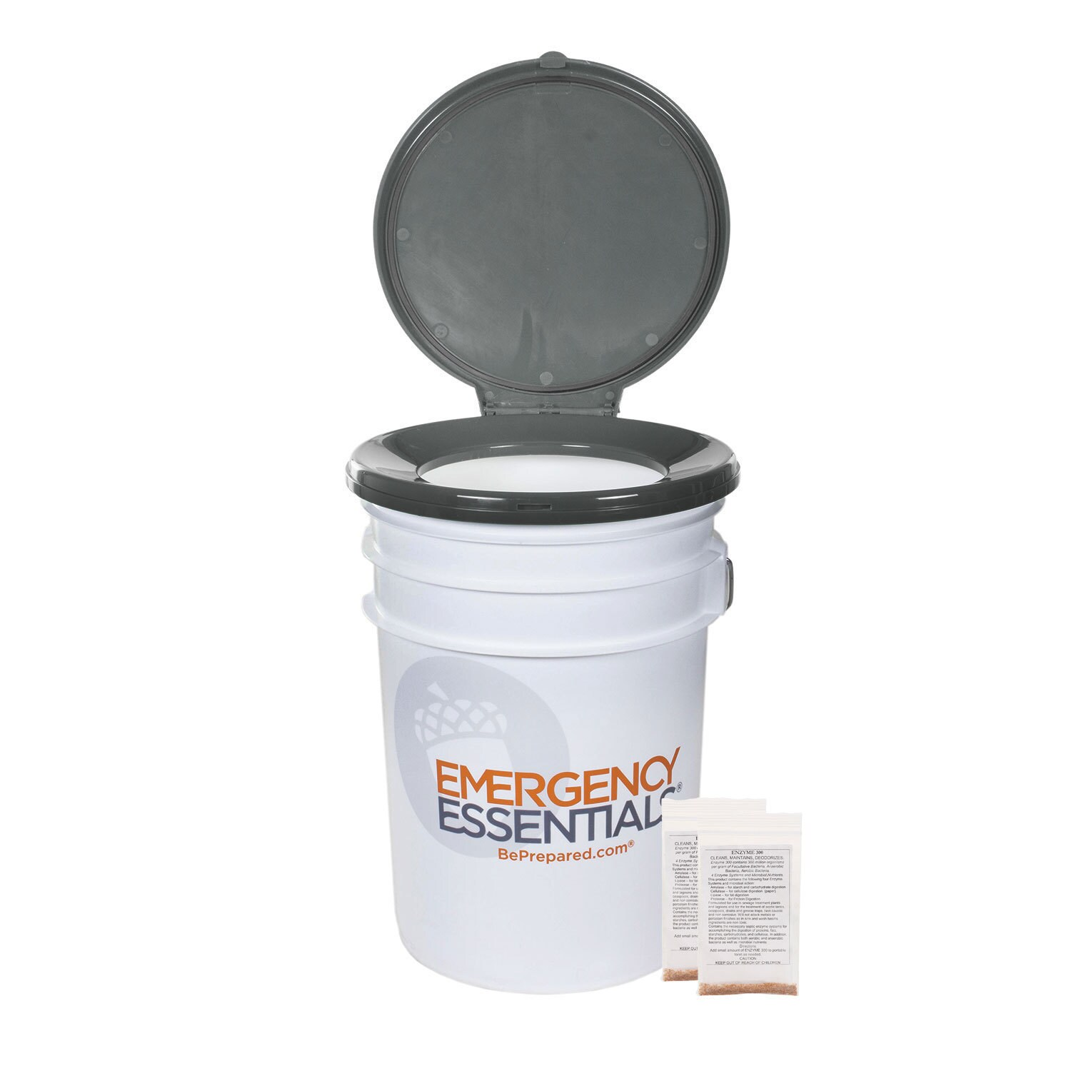 Emergency Essentials Tote-Able 6 Gallon Toilet with 2 Enz...