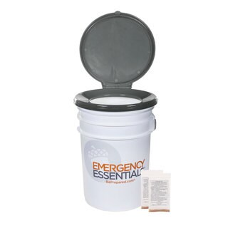 Tote-Able 6 Gallon Toilet with 2 Enzyme Packets
