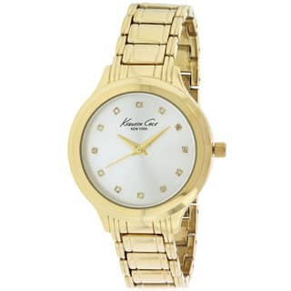 Kenneth Cole New York Womens' 10029557 Goldtone Watch|https://ak1.ostkcdn.com/images/products/14602545/P21146568.jpg?impolicy=medium