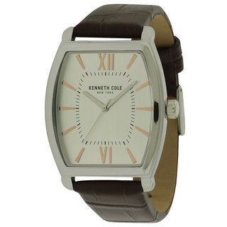 Kenneth Cole New York Leather and Stainless Steel Men's Watch