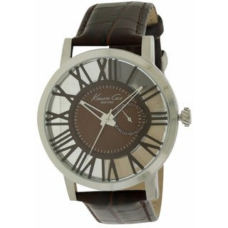 Kenneth Cole Men's New York Transparency 10020811 Leather Watch