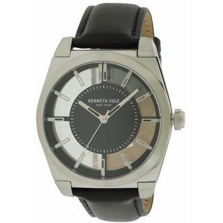 Kenneth Cole Men's New York Transparency 10027837 Leather Watch