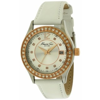 Kenneth Cole New York Women's 10020850 White Leather Watch
