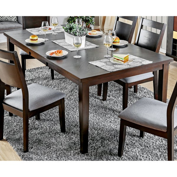 Furniture Of America Nevel Transitional Dark Walnut Dining Table With  18 Inch Butterfly Leaf