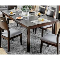 Furniture of America Nevel Transitional Dark Walnut Dining Table with 18-inch Butterfly Leaf
