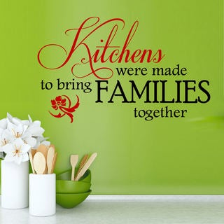 Link to Kitchens Were Made to Bring Familys Together Vinyl Wall Quote Decal Similar Items in Vinyl Wall Art