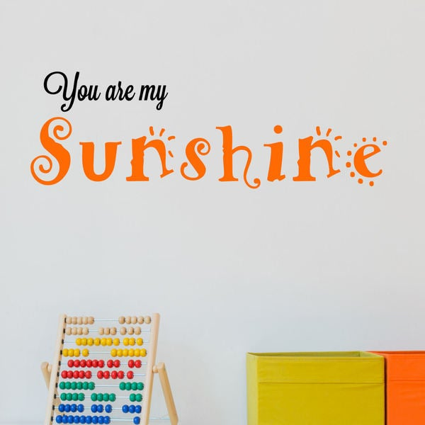 You Are My Sunshine Vinyl Wall Quote Decal