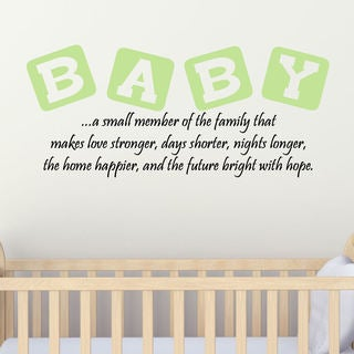 Baby Vinyl Wall Quote Decal