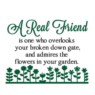 A Real Friend Vinyl Wall Quote Decal