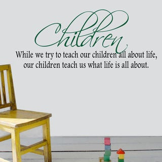 Children Vinyl Wall Quote Decal (2 options available)