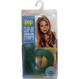 Hair U Wear Hair Put On Pieces Teal Human Hair Color Strip