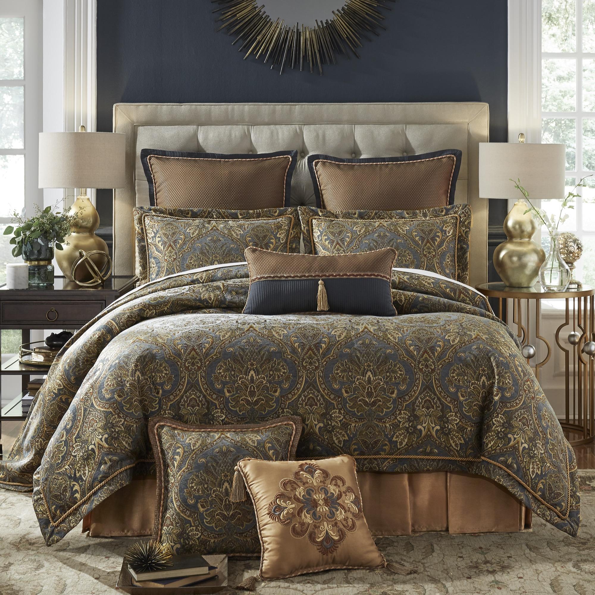 Croscill Cadeau Chenille Jacquard Woven 4-piece Comforter ...