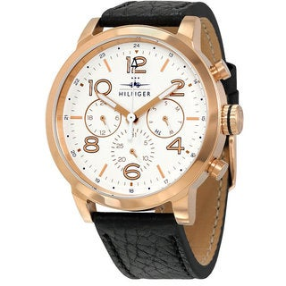 Tommy Hilfiger Men's Jake 1791236 Leather Chronograph Watch