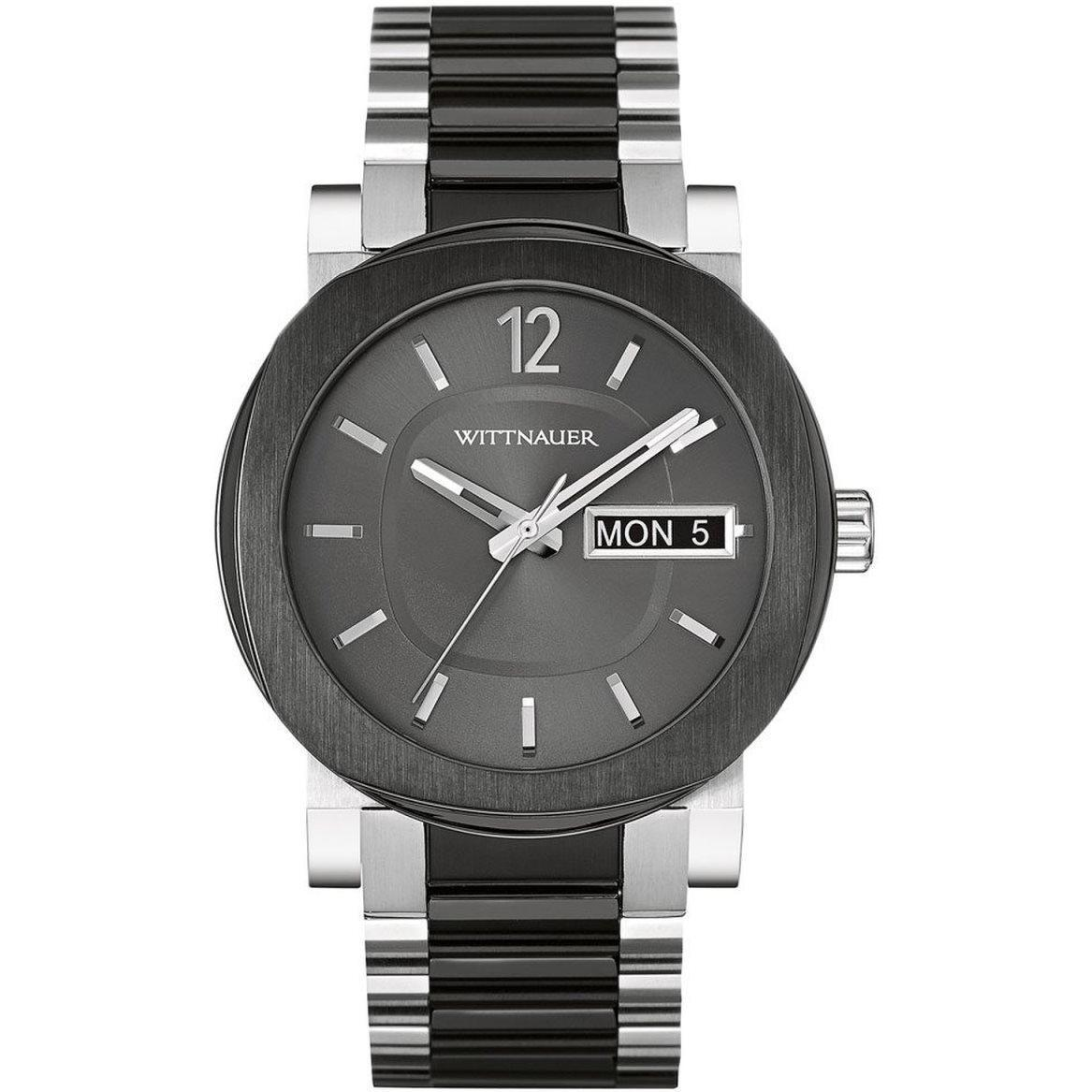 Lacoste Wittnauer Men's Aiden Two-tone Watch (Watch), Bla...