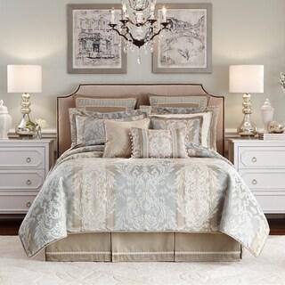 Croscill Nathaniel Jacquard Woven Damask Seafoam 4-piece Comforter Set