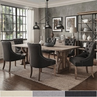 gray dining room table. Paloma Salvaged Reclaimed Pine Wood 7-Piece Rectangle Dining Set By INSPIRE Q Artisan Gray Room Table G