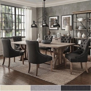 Paloma Salvaged Reclaimed Pine Wood 7-Piece Rectangle Dining Set by iNSPIRE Q Artisan